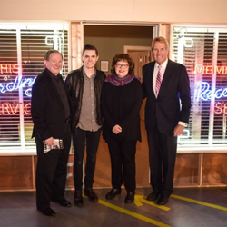 Graceland CEO Jack Soden, Will Tucker, who starred in the show, Linn Sitler of the Memphis & Shelby County Film/TV Commission and Kevin Kane of the Memphis Convention & Visitors Bureau officially opened the new Hollywood Backlot exhibit.