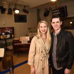 "Will Tucker and his wife enjoyed a tour through the set used for ""Sun Records."" Will, a native Memphian, starred on the show."