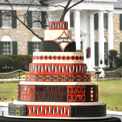 The 2018 birthday cake is inspired by Elvis