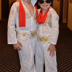 Truman and Ernest have dressed up as Elvis for several years.