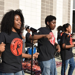 Students in the Stax Music Academy performed twice during Elvis Presley