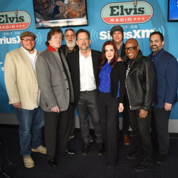 DJ Argo, Jerry Schilling, TY, Thom Zimny, Priscilla Presley, John Jackson, David Porter and Kary Antholis at SiriusXM Elvis Radio.