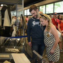 Elvis fans get ready for their Graceland Archives Experience on August 8, 2014.