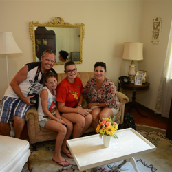 This Elvis fan family sat on the very same couch Elvis