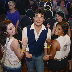 Semifinalist Ben Thompson greets fans after the Ultimate Elvis Tribute Artist Showcase.