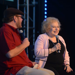 Special guest and the first Elvis Presley Fan Club President Linda Deutsch speaks at the annual event on August 13, 2014.
