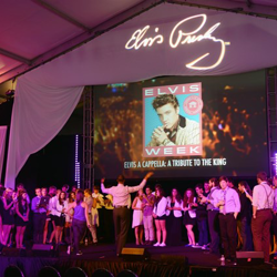 Group rehearsal of the Elvis A Cappella groups prior to the first shows at Elvis Week 2014.