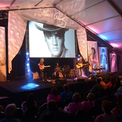 Andy Childs and his band performed several of Elvis
