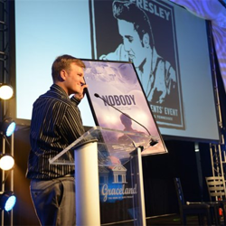 "William Bryan, director of the short Elvis biopic ""Nobody,"" shared updates on the movie at the Fan Club Presidents"