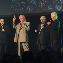 Members of The Stamps Quartet gave a powerful performance at the Sunday Morning Gospel Celebration.