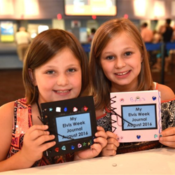 Kids created Elvis-inspired arts and crafts during Elvis Week.