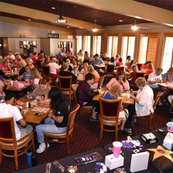 Elvis fans played a few rounds of Bingo at the Heartbreak Hotel.