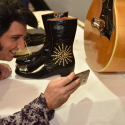 The Ultimate Elvis Tribute Artist Contest Semifinalists spent time hanging out and getting an up-close look at Elvis artifacts before the ETA Showcase on August 10.