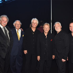 Members of Terry Blackwood & the Imperials and former members of JD Sumner and the Stamps Quartet chat backstage at The Gospel Music of Elvis Presley Concert.