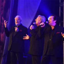 Terry Blackwood, Darrell Toney and Lynn Royce Taylor of Terry Blackwood and The Imperials perform at The Gospel Music of Elvis Presley Concert.
