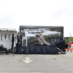 The Elvis: Past, Present & Future complex is unveiled at the press conference on Monday, August 15.