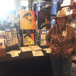 Artist Betty Harper showcased some of her work and met with fans at The Guest House at Graceland.