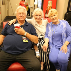 Gary Lockwood, Marlyn Mason and Pat Priest spent time chatting backstage.