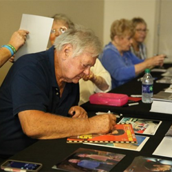 "Gary Lockwood, who also starred in ""2001: A Space Odyssey,"" signed autographs."