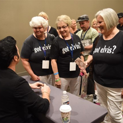 The Ultimate Elvis Tribute Artist Contest autograph session was a sold out event.