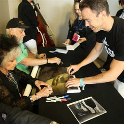 Guests signed autographs following the Elvis Connection panel.