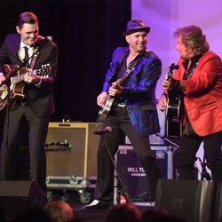 Jerry Phillips joined Memphis musicians on stage for the Salute to Sun event during Elvis Week.
