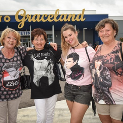 Thousands of Elvis fans celebrated the King of Rock