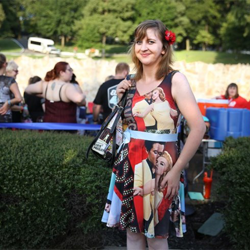Elvis fans wore their most Elvis-inspired outfits to the Candlelight Vigil.