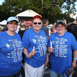 Elvis fans often make their own T-shirts for the Candlelight Vigil.