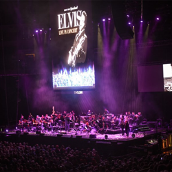 The Elvis: Live in Concert event was part of a tour that traveled to 12 cities in the U.S.