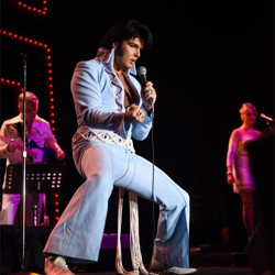 Ben Thompson of the UK was one of the finalists for the Ultimate Elvis Tribute Artist Contest.