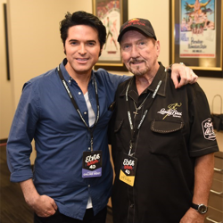 Dean Z and James Burton hung out backstage.