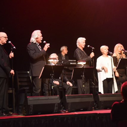 Former members of The Stamps, plus Donna Rhodes Morris, who sang back-up for Elvis, performed at Elvis Live in Concert.