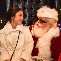 Santa Claus was on hand to discuss a very important topic - Christmas wish lists.