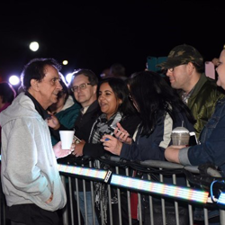 George Klein took the time to meet with fans before the Lighting Ceremony.