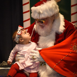 Kids of all ages had their photo made with our Elvis-inspired Santa.