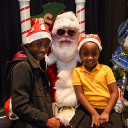 Our Elvis-inspired Santa took photos with kids after the Lighting Ceremony.