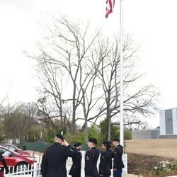 To commemorate the 60th anniversary of Elvis Presley's induction into the U.S. Army, members of Elvis' Army unit, the 1st Squadron, 32nd Cavalry Regiment kicked-off the day at Graceland with an official Reveille flag-raising ceremony.