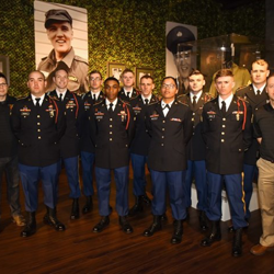 Members of Elvis' Army unit, the 1st Squadron, 32nd Cavalry Regiment, toured Graceland on the 60th anniversary of Elvis