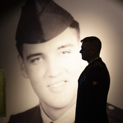 Troopers from 1st Squadron, 32nd Cavalry Regiment, 1st Brigade Combat, 101st Airborne Division (Air Assault) out of Fort Campbell, Kentucky, checked out the newly-expanded Private Presley exhibit.