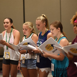 Our campers worked hard to learn the material for their performance.