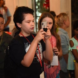 Finley snaps a photo during his Graceland tour.