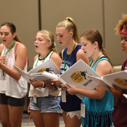 Campers learned material for their final performance in just a few days.