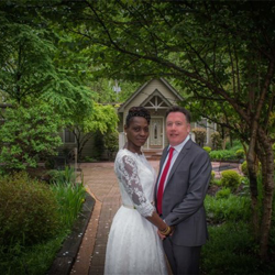 Jennifer Muschett and Denis Dillon were married on April 19, 2016. The couple is from London, England.