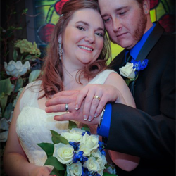 Deseray Taylor and Jesse Barger from Clifton, Colorado, were married at the chapel at Graceland on March 13, 2015.