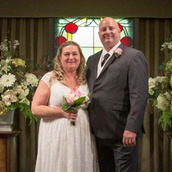 Harley and Judith Eades of Pekin, Illinois renewed their vows at Graceland's Chapel in the Woods on April 15, 2017.