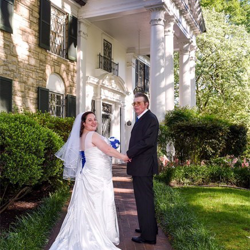 Stephanie Demko and Terry Stuart of Tidioute, Pennsylvania were married at Graceland's Chapel in the Woods on May 1, 2017.