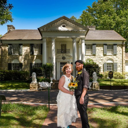 Megan McCoy and Timothy Cusick of Pandora, Ohio were married at Graceland's Chapel in the Woods on May 6, 2017.