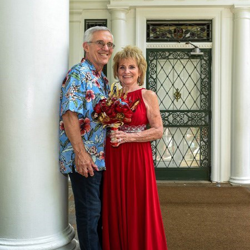 Richard and Shirley Kenyon of Texas renewed their vows after 50 years of marriage at Graceland's Chapel in the Woods.