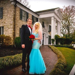 Timothy Moss and Rosemarie Oberrieth from Pembroke Pines, Florida, were married at the chapel at Graceland on March 14, 2015.